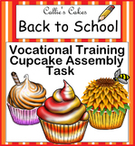 Work Box Assembly Task for Special Education Life Skills Back to School Cupcakes