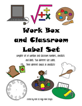 Work Box and Classroom Labels Set