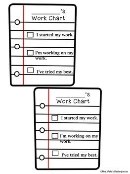 Work Chart Behavior Task Card