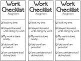 Work Checklist Student Accountability
