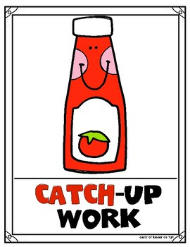 Center Signs/Posters Flexible Work Choice  {Must Do, May Do, Pick One, Catch-Up}