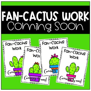 Work Coming Soon Poster (Cactus)