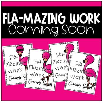 Work Coming Soon Poster (Flamingo)