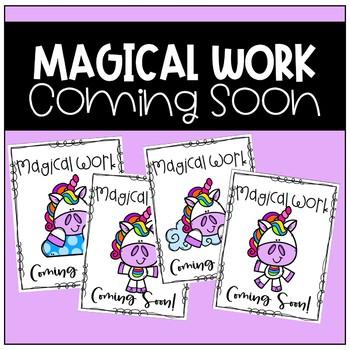 Work Coming Soon Poster (Unicorn)