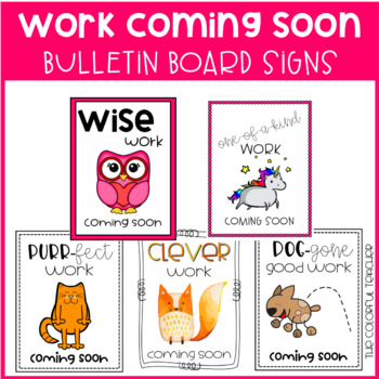Work Coming Soon Signs: Animal Themed