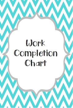 Work Completion Chart EDITABLE