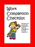 Work Completion Checklist