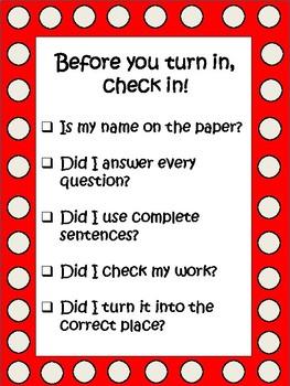Work Completion Checklist