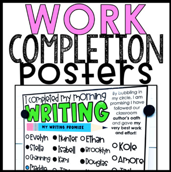 Work Completion Posters