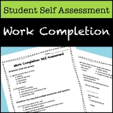Work Completion Self Assessment for Students
