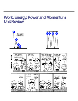 Work/Energy/Momentum Unit Review Questions