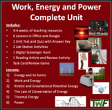 Work, Energy and Power Complete Unit Bundle - Lessons, Wor