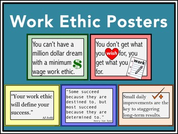 Work Ethic Posters