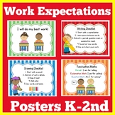 Work Expectations Posters | First Grade