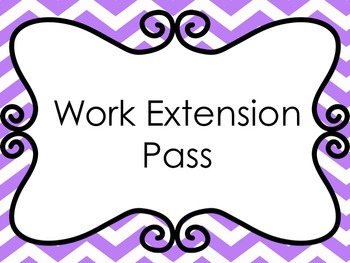 Work Extension Pass