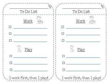 Work First, Then Play To-Do List