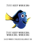 Finding Dory Work Folder Cover