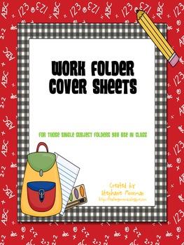 Work Folder Covers