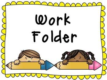 2x4 Work Folder Labels