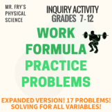 Work Formula Practice Problems - Solving for All Variables