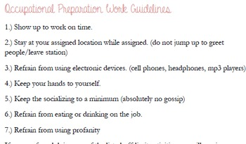 Work Guidelines