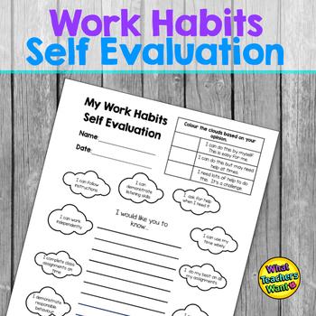 Work Habits Self Evaluation