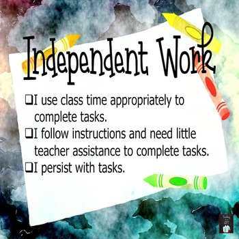 Work Habits and Learning Skills Posters FREEBIE