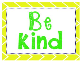 Work Hard & Be Kind Class Rules