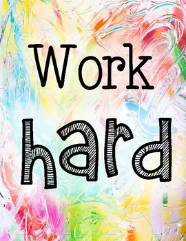 Work Hard - Classroom Poster