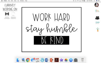 Work Hard. Stay Humble. Be Kind. Desktop Background Image