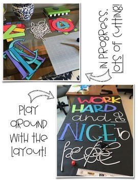 Work Hard and Be Nice to People Door or Wall Decor Kit