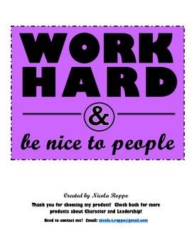 Work Hard and Be Nice to People - PURPLE