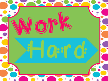 Work Hard, be Kind Class Rules