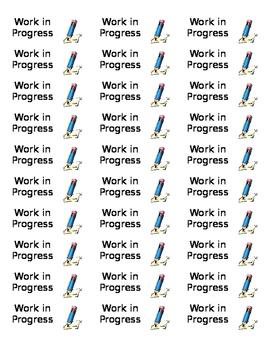 Work In Progress Labels