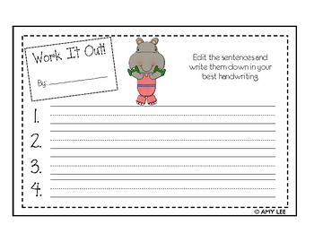 Work It Out! (Sentence Editing)