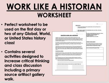 Work Like a Historian - Global/World/US History/APUSH