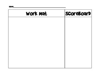 Work Mat and Scoreboard