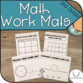 Math Work Mats (Tens Frame, Hundreds Chart, + Place Value Mats)