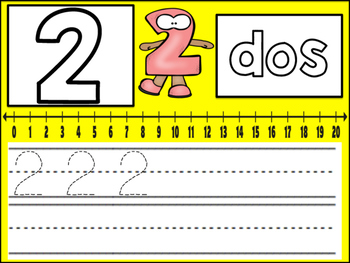 Work Mats: Number Handwriting