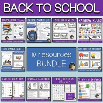Back to School EXTRA Bundle