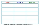 Work On Words Read It, Make It, Write It Board
