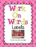 Work On Words / Station Labels