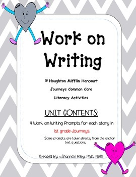 Work On Writing - 1st Grade {Journeys}