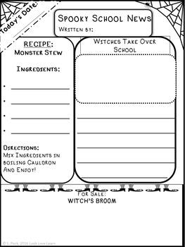 Create Your Own Halloween Newspaper Informative Writing