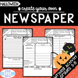 Create Your Own Halloween Newspaper Informative Writing