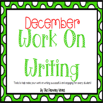 Work On Writing: December Edition