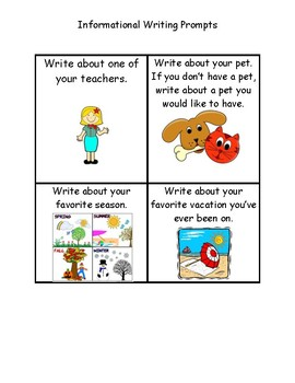 Work On Writing Informational Writing Task Cards for Daily 5 - Georgia 3rd Grade