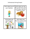 Work On Writing Informational Writing Task Cards for Daily