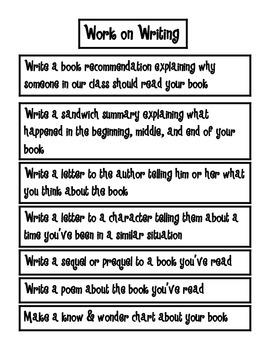 Work On Writing Student Ideas
