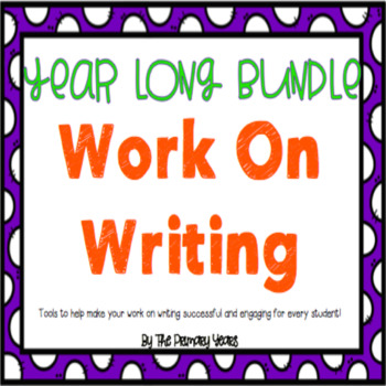 Work On Writing: The Year Long Bundle!